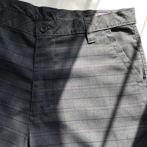 Prana Plaid Flat Front Gusset Pants Men's 36x34